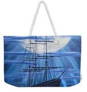 Tall Ship By Moonlight Weekender Tote Bag