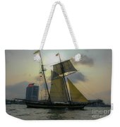 Tall Ship Chasing The Sun Weekender Tote Bag