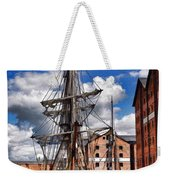 Tall Ship In Gloucester Docks Weekender Tote Bag