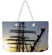 Tall Ship In Ibiza Town Weekender Tote Bag