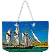 Tall Ship Paint  Weekender Tote Bag