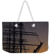 Tall Ship Silhouetted Weekender Tote Bag