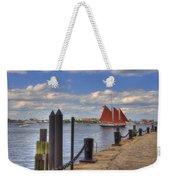 Tall Ship The Roseway In Boston Harbor Weekender Tote Bag by Joann Vitali