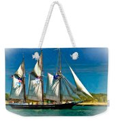 Tall Ship Vignette Weekender Tote Bag