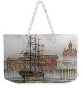 Tall Ship Waterfront Weekender Tote Bag