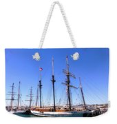 Tall Ships Big Bay Weekender Tote Bag