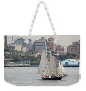 Tall Ships In The Harbor Weekender Tote Bag