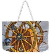 Tall Ships Wheel Weekender Tote Bag