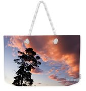 Tall Tree Against A Dramatic Sunset Clouds Sky Weekender Tote Bag