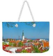 Tallinn From Plaza In Upper Old Town-estonia Weekender Tote Bag