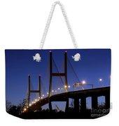 Talmadge Memorial Bridge Savannah Weekender Tote Bag