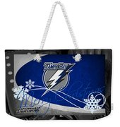 Tampa Bay Lightning Christmas Weekender Tote Bag