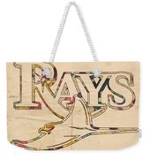 Tampa Bay Rays Logo Art Weekender Tote Bag