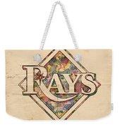 Tampa Bay Rays Vintage Art Weekender Tote Bag