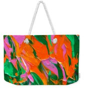 Tangerine And Lime Weekender Tote Bag by Donna Blackhall