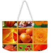 Tangerine Dream Window Weekender Tote Bag