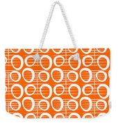Tangerine Loop Weekender Tote Bag by Linda Woods