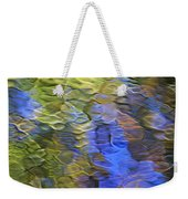 Tangerine Twist Mosaic Abstract Art Weekender Tote Bag by Christina Rollo