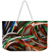 Tangle Of Colorful Wires Weekender Tote Bag
