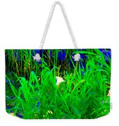 Tangled Garden On The Canal Canadian Art Montreal Landscapes Lachine Quebec Scenes Carole Spandau  Weekender Tote Bag