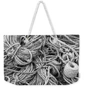 Tangled Rope And Lobster Fishing Gear On Dock Maine Weekender Tote Bag