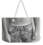 Tanline In Jeans Black And White Weekender Tote Bag