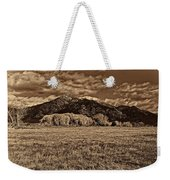 Taos Mountain In Platinum  Weekender Tote Bag