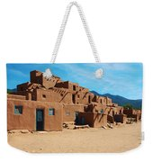 Taos Pueblo 4 Weekender Tote Bag