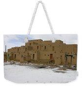 Taos Pueblo With Snow Weekender Tote Bag