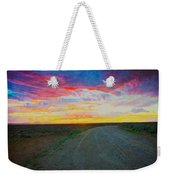 Taos Sunset On Rice Paper Weekender Tote Bag