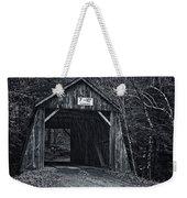 Tappan Covered Bridge Bw Weekender Tote Bag
