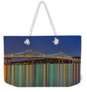 Tappan Zee Bridge Reflections Weekender Tote Bag by Susan Candelario