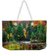 Taquamenon Lower Falls And Observation Deck. Weekender Tote Bag