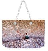 Tarahumara Boy In Painted Cave Near Chihuahua-mexico Weekender Tote Bag