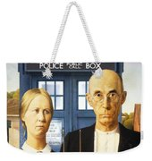 Tardis V Grant Wood Weekender Tote Bag