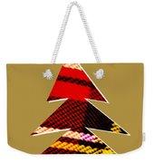 Tartan Christmas Tree On Gold Weekender Tote Bag