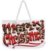 Tartan Merry Christmas Weekender Tote Bag