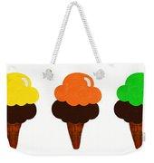 Taste The Ice Cream Rainbow Weekender Tote Bag