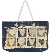 Tattered Hearts Weekender Tote Bag by Carol Leigh