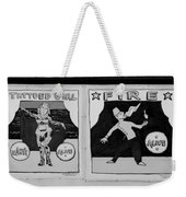 Tattoos And Fire In Black And White Weekender Tote Bag