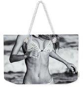 Ms Turkey Tatyana Running In The Ocean Waves - Glamor Girl Photo Art Weekender Tote Bag