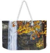 Taughannock Falls And Maple Weekender Tote Bag
