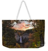 Taughannock Falls Autumn Sunset Weekender Tote Bag