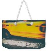 Taxi Taxi Weekender Tote Bag by Karol Livote