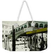 Taxi Venice Italy Style Weekender Tote Bag