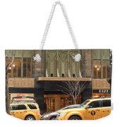 Taxis In The City Weekender Tote Bag