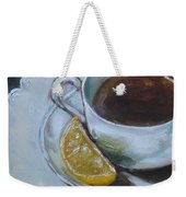 Tea And Lemon Weekender Tote Bag