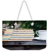 Tea And Reading Weekender Tote Bag