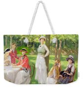 Tea In The Garden Weekender Tote Bag