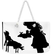 Tea Party Dolly Silhouette Weekender Tote Bag